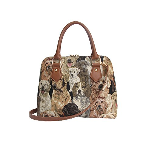 Top Body Labrador Tapestry Cross Shoulder Handle CONV Bag Dog Handbag LAB Bag Women Signare xEU48xZ