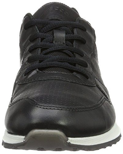 Ecco Dames Sneak Retro Tie Fashion Sneaker Zwart / Zwart