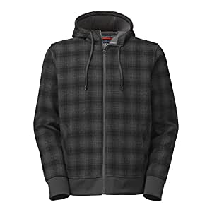 The North Face Outbound Full Zip Hoodie Mens Asphalt Grey Plaid L