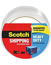 """Scotch Heavy Duty Packaging Tape, 1.88"""" x 65.6 yd, Designed for Packing, Shipping and Mailing, Strong Seal on All Box Types, 3"""" Core, Clear, 1 Roll (3850-60)"""