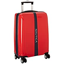 Nautica Landfall 20-Inch Hard Side Spinner, Red, One Size