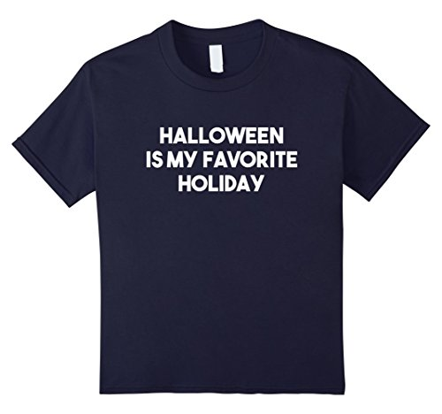 Kids Halloween is my favorite holiday T Shirt 12 Navy (Halloween Is My Favorite Holiday)