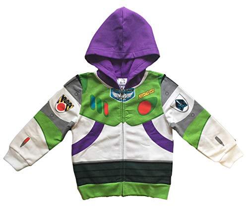 Disney Toy Story Little Boys Buzz Lightyear Costume Hoodie (7)]()