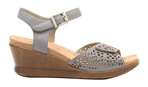 Romika Women's Nevis 05 Wedge Sandal, Jeans, 38 EU/7-7.5 M US by Romika