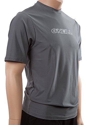 O'Neill Wetsuits UV Sun Protection Mens Basic Skins Short Sleeve Tee Sun Shirt Rash Guard, Smoke, X-Large
