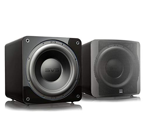 SVS SB-3000 13-inch Subwoofer with 800W RMS, 2,500W Peak Power, and DSP Control App - (Pair) Piano Gloss Black