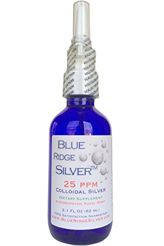 Blue Ridge Silver 25 ppm, 2.1 oz Colloidal Silver Nasal Spray