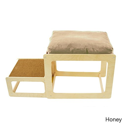 The Savvy Pet Lacey's Lookout Small Pet Natural Window Seat Tan by Pet Savvy