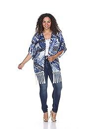 WM Ultimate Plus Size Cover Up - Fringe Kimono