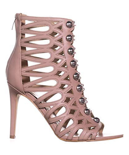 GUESS PERLINA2 Women's Light Heeled Leather Sandal Pink ww0xO