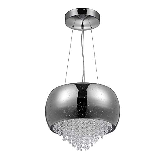 Drum Pendant Light With Crystal in US - 3