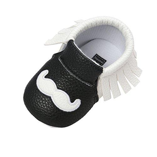 Fire Frog Baby Mary Jane Shoes - Zapatos primeros pasos de Piel Sintética para niño blanco