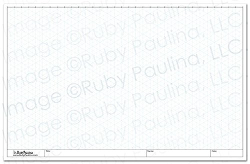 11x17 Isometric Grid Pad, White (579680) - Isometric Drafting Paper