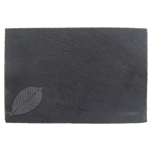 Etched Slate (Thirstystone Leaf with Chalk Etched Slate, Black)