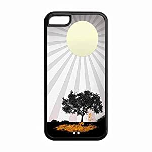 iPhone 5C Protective Case -Custom STYLE (993) sun and tree painting Snap On TPU Cell Phone Case Cover for iphone 5C