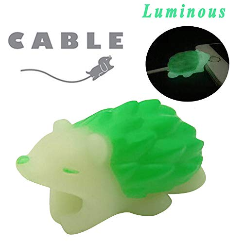 JonerytimeLuminous Cable Line Bite for iPhone Cable Cord Animal Phone Accessory Protects Cute Protector