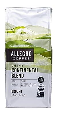 Allegro Coffee Organic Continental Blend Ground Coffee, 12 oz from Allegro Coffee