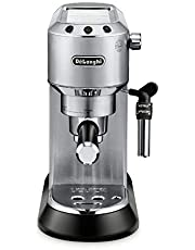 De'Longhi EC685M Dedica DeLuxe Pump Espresso Machine with Premium Adjustable Frothing Wand, in stainless steel