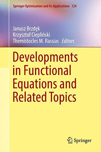 Developments in Functional Equations and Related Topics (Springer Optimization and Its Applications)