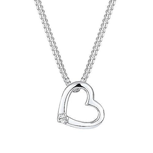 1f665415c105 Eli - Collar con Colgante para Mujer de Plata de Ley con Cristales Swarovski  45 cm