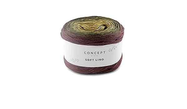 Katia Soft Lino, 150 g Bobbel hilo de lino degradado (605), hilo de lino con degradado: Amazon.es: Hogar