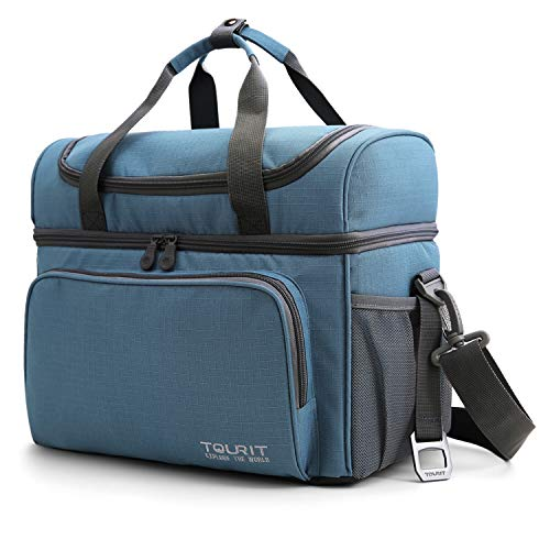 TOURIT Insulated Cooler Bag 15 Cans Large Lunch Bag Travel Cooler Tote 22L Soft Sided Cooler Bag for Men Women to Picnic, Camping, Beach, - Coolers Soft Thermos