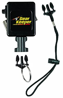 "Gear Keeper RT3-7512 Retractable Instrument Tether with Stainless Steel Rotating Belt Clip, 80 lbs Breaking Strength, 12 oz Force, 42"" Extension"