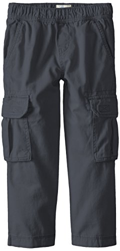 The Children's Place Big Boys' Slim Pull-On Cargo Pant, Gray Steel, 8S