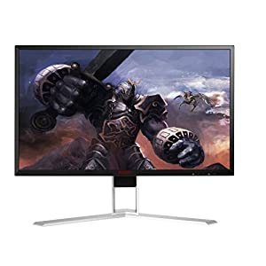 "AOC AGON AG241QG 23.8"" Gaming Monitor, G-SYNC, QHD (2560x1440), TN Panel, 165Hz, 1ms, Height Adjustable, DisplayPort, HDMI, USB"
