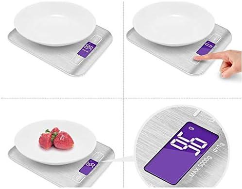 GTD-RISE Bilancia da Cucina, Digital Kitchen Scale, Elettronica Cibo Scala, Ultra Sottile Design, Metric Gram Imperiale, Liquidi Ml/FL oz, colto Facile LCD (Size : 5kg/1g)