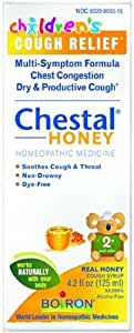 Boiron Children's Chestal for Cough Syrup, Honey, 4.20 Ounce