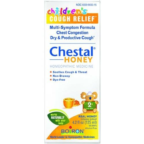 Boiron Medicine (Boiron Children's Chestal for Cough Syrup, Honey, 4.20 Ounce)