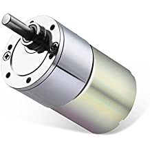 Greartisan DC 12V 1000RPM Gear Motor High Torque Electric Micro Speed Reduction Geared Motor Eccentric Output Shaft 37mm Diameter Gearbox