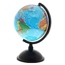 PROW 8 Inch Illuminated 2 in 1 World Globe Interactive Globe for Kid's Room Lighting or Traveler plus Compass