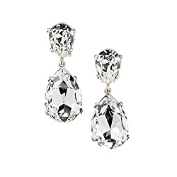 Clear Crystal Earrings Drop