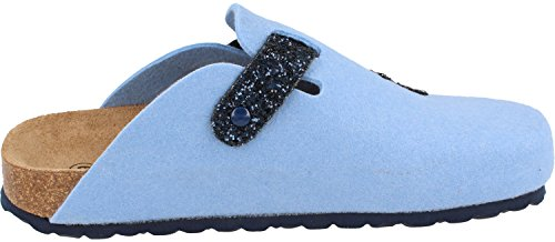Femme blue BONOVA lightblue pour glitter Mules 1xpvrwqEpX