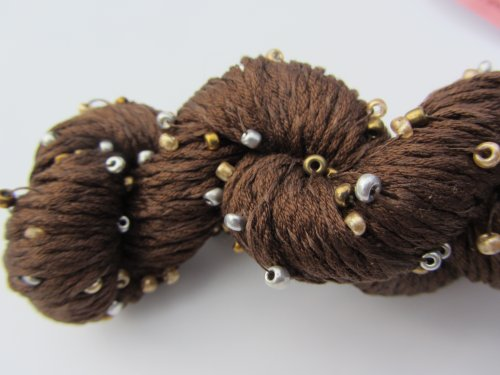 Louisa Harding Mulberry Hand Beaded Silk Yarn 11 Brown