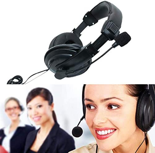 3.5mm Wired Headphones With Microphone Business Headset Mic Earphone For Computer PC Gaming Stereo Skype Fasmodel