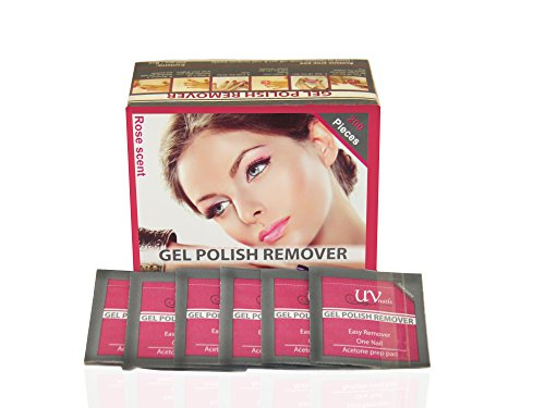 UV-NAILS Lacquer & Gel Polish Remover Pads With Acetone Ready to Use. 200 Pieces Count!!! Rose - Scent