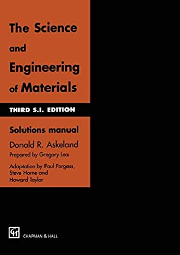 the science and engineering of materials solutions manual donald r rh amazon ca Books On It with Material Civil Engineering Materials Books