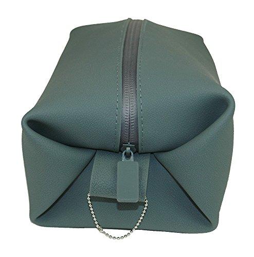 (World's Best Toiletry Bag, Charcoal; Travel Dopp Kit, Shaving Kit Bag, Silicone, Leak Resistant Bag)