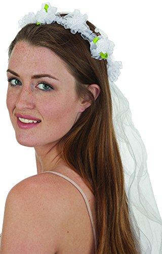 (Jacobson Hat Company White Flower Long Veil)