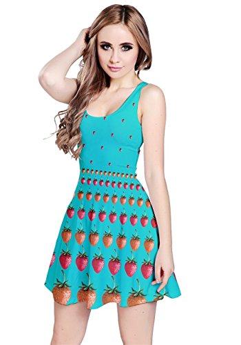 CowCow - Vestido - para mujer Aqua Strawberries