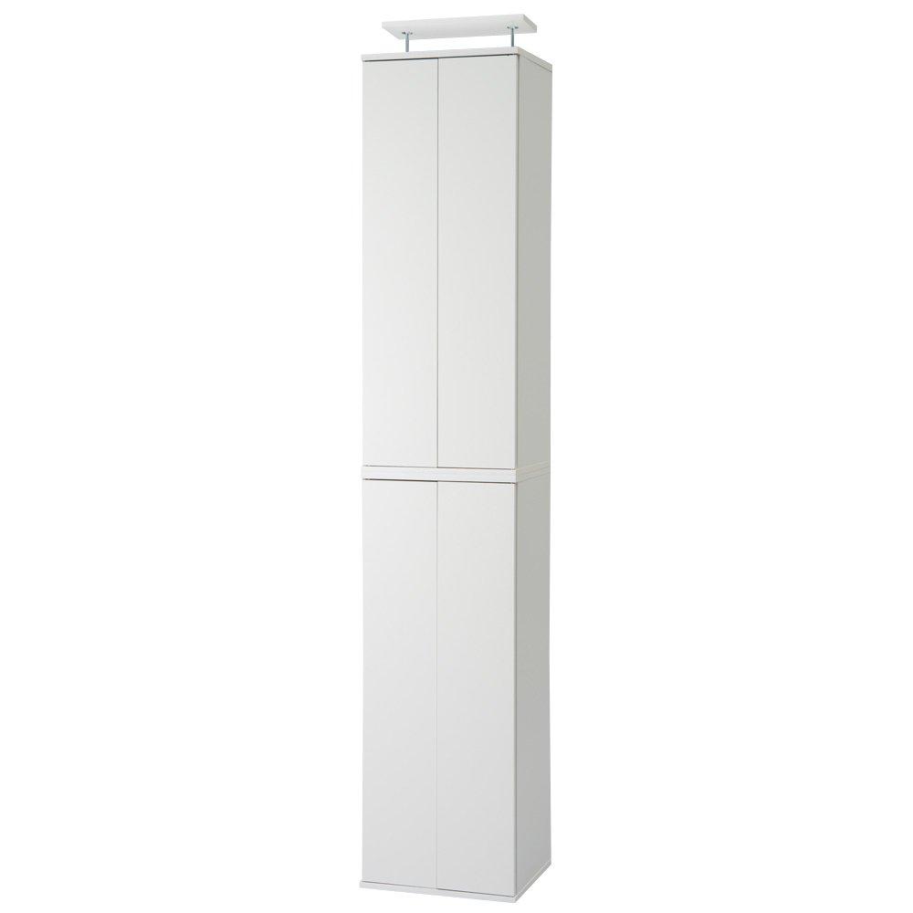 並べても使える 突っ張り式ユニットシューズボックス 天井高さ224~234cm用幅45cm[紳士靴対応] 513506(サイズはありません ウ:ホワイト) B079BFJPKWウ:ホワイト