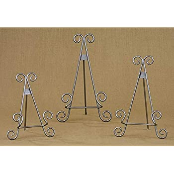 Amazon Com 11 Quot Silver Finish Stratford Metal Easel Photo
