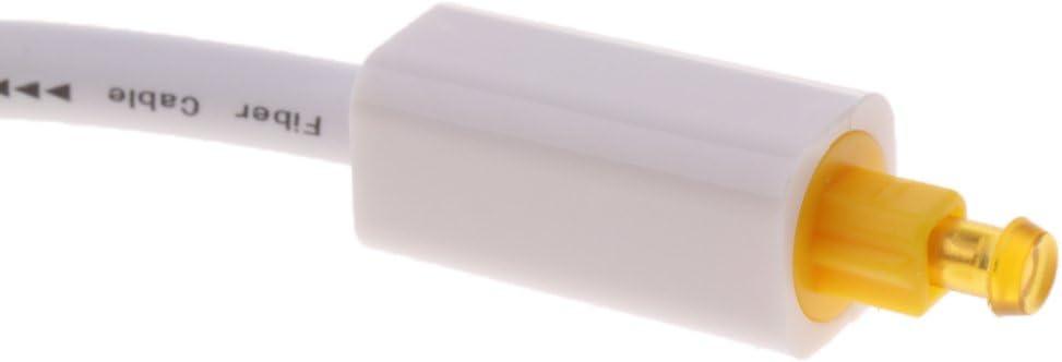 Splitter Optical Fiber SPDIF Duplicator Adapter for Toslink Digital Audio Cable for Adios 1 Pack White