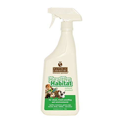 De Flea Reptile Relief - Healthy Habitat Natural Enzyme Bird Cage Cleaner for Glass, Metal and Plastic Cages, 24-Ounce