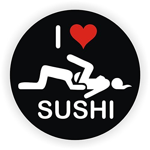 I LOVE SUSHI - (3 pack) Full Color Printed - (size: 2