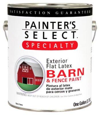 True Value Mfg 940-GL Barn & Fence Paint, Latex, Flat, Ra...
