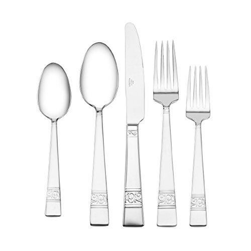Mikasa Parchment 5-Piece Stainless Steel Flatware Set, Servi